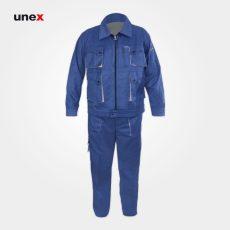 لباس کار یونکس مهندسی ست ورک آبی کاربنی استخوانی