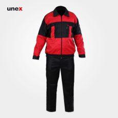 لباس کار یونکس سیلوری، مشکی قرمز