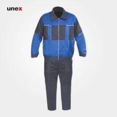 لباس کار یونکس سیلوری، طوسی آبی