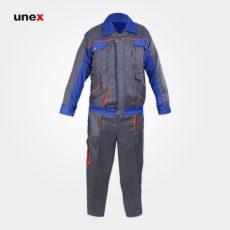 لباس کار یونکس طرح بوفالو طوسی آبی