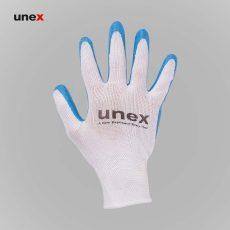دستکش کف مواد یونکس سفید آبی