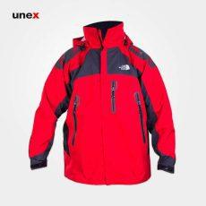 کاپشن دوپوش گورتکس، نورث فیس-North Face، قرمز-طوسی، فری سایز، آمریکایی