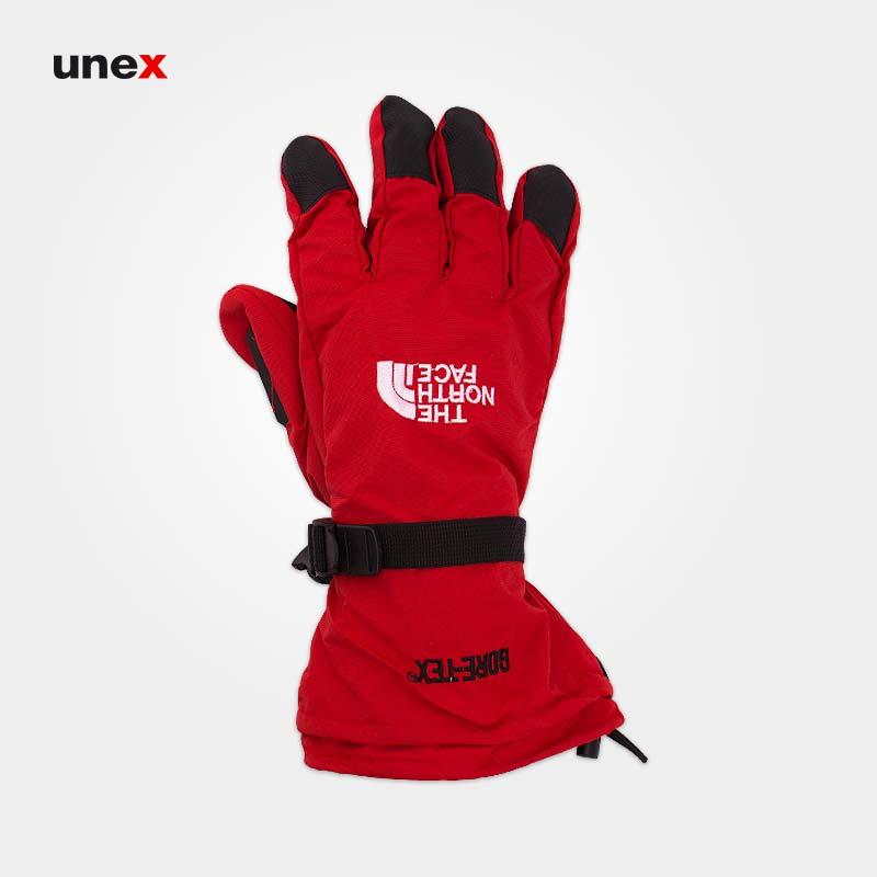 دستکش دوپوش گورتکس، نورث فیس-North Face، قرمز-مشکی، آمریکایی