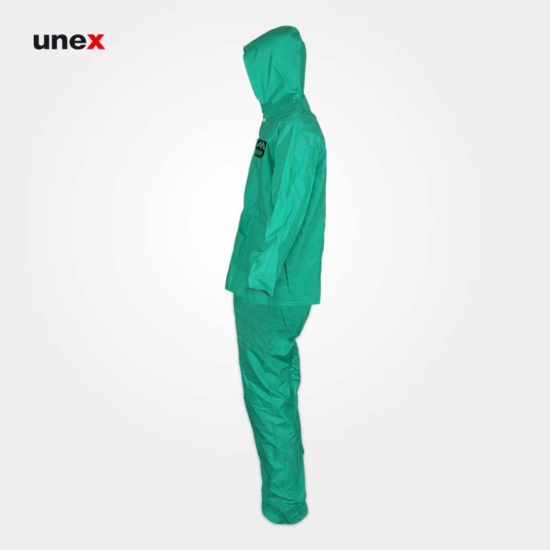 لباس کاپشن و شلوار ضد اسید ماگما سبز