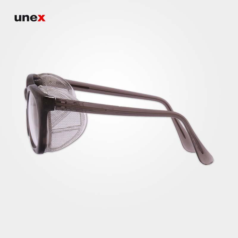 عینک فریم دار بغل توری خاکستری