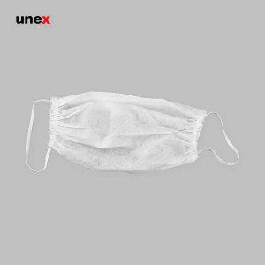 ماسک پزشکی تک لایه سفید بسته ۵ عددی