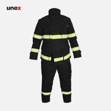لباس عملیاتی آتش نشانی دوپونت مدل FIREMAN نومکس مشکی