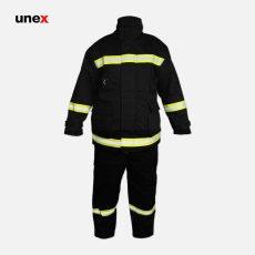 لباس عملیاتی آتش نشانی یونکس FIREMAN کتان مشکی