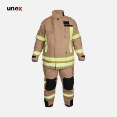لباس عملیاتی آتش نشانی یونکس طرح PBI خاکی