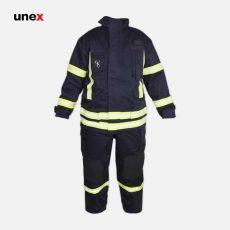 لباس عملیاتی آتش نشانی یونکس طرح PBI سرمه ای